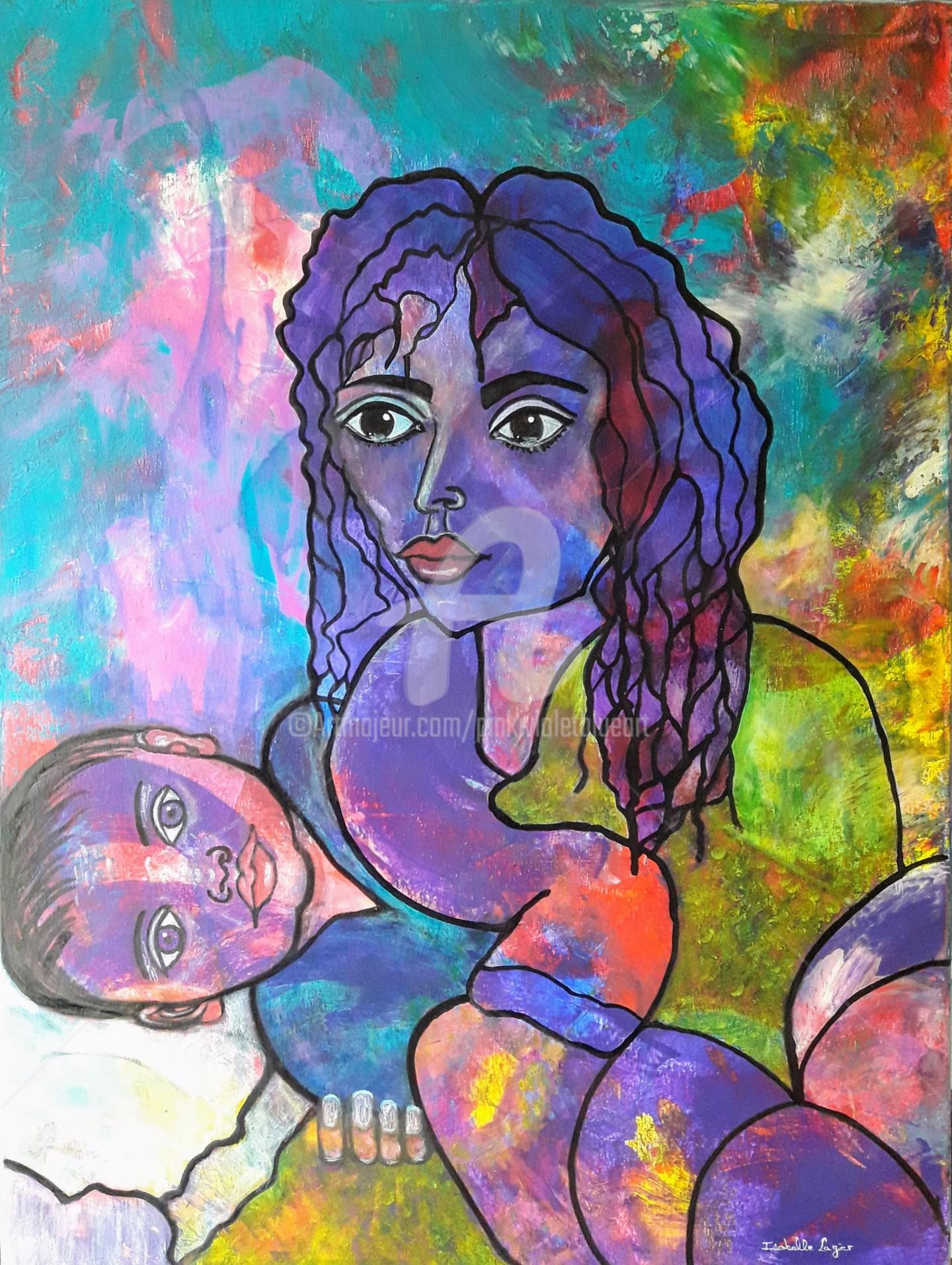 Pinkivioletblue - La demoiselle souffrant de dépression post-partum