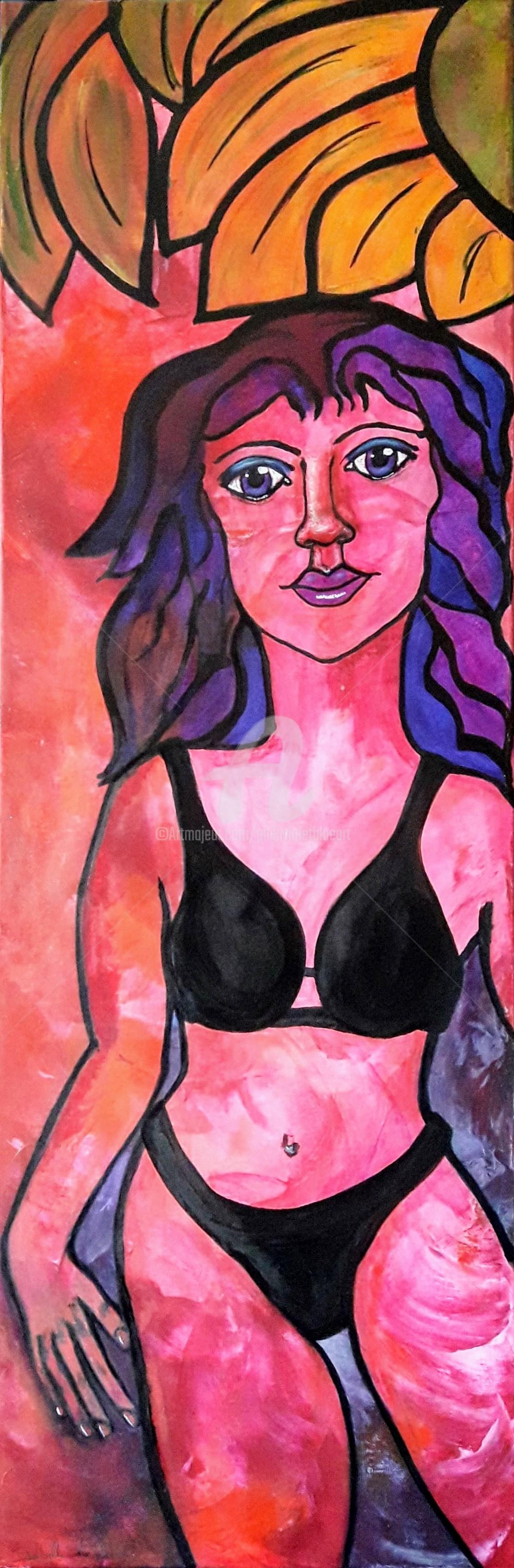 Pinkivioletblue - La demoiselle en bikini noir