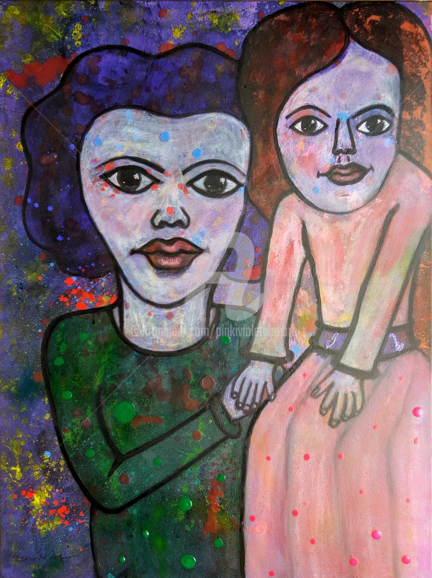 Pinkivioletblue - Les demoiselles fidèles l'une à l'autre