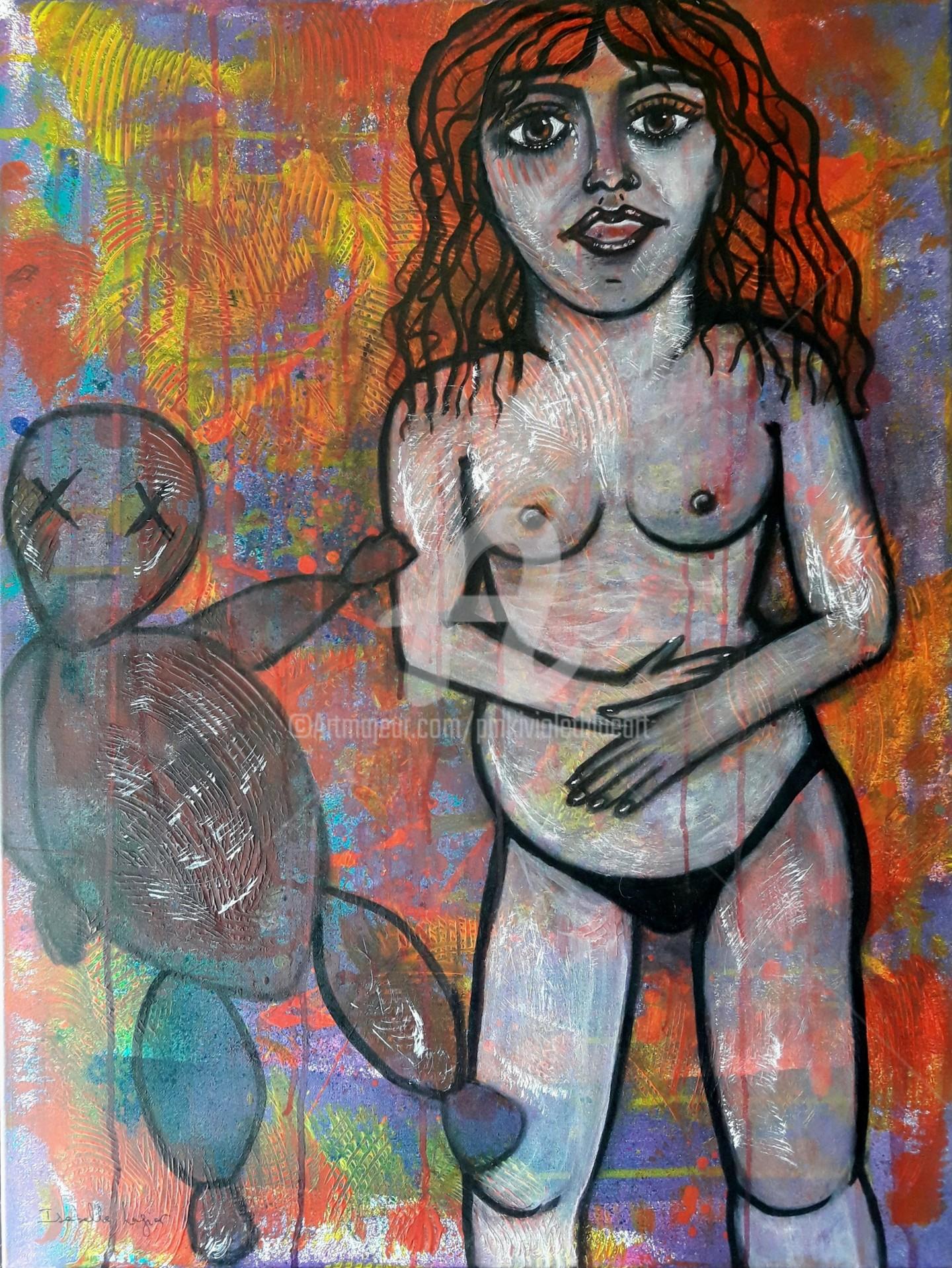 Pinkivioletblue - La demoiselle à la grossesse arrêtée
