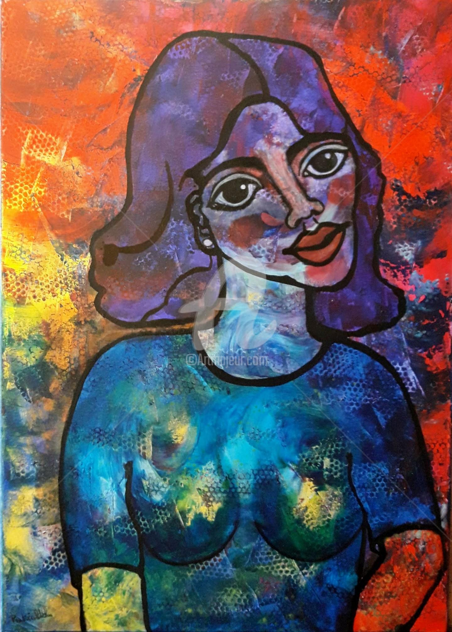 Pinkivioletblue ~ Pkvb - La demoiselle au tee-shirt bleu