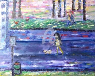 La petite fille qui promenait son chien