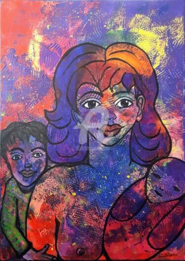 La demoiselle et ses deux enfants