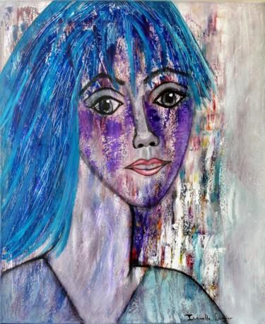 Pinkivioletblue aux cheveux bleus