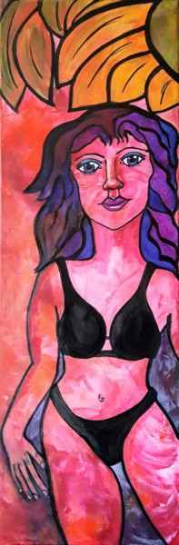 La demoiselle en bikini noir