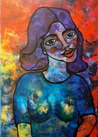 La demoiselle au tee-shirt bleu