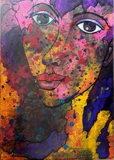 La demoiselle aux cheveux violets