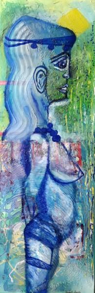 La demoiselle en parure bleue